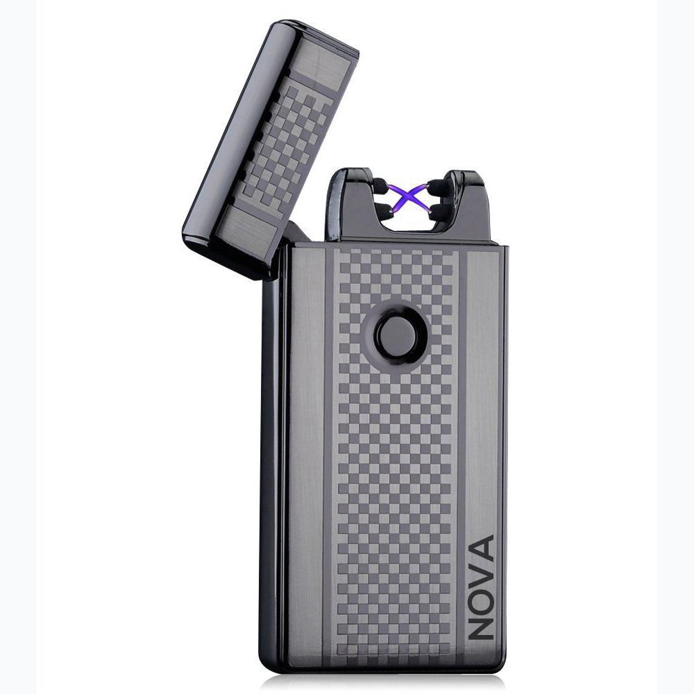 NOVA Lighter Electric Plasma Windproof Arc USB (Gun Metal Grey) | Electric Arc Lighter