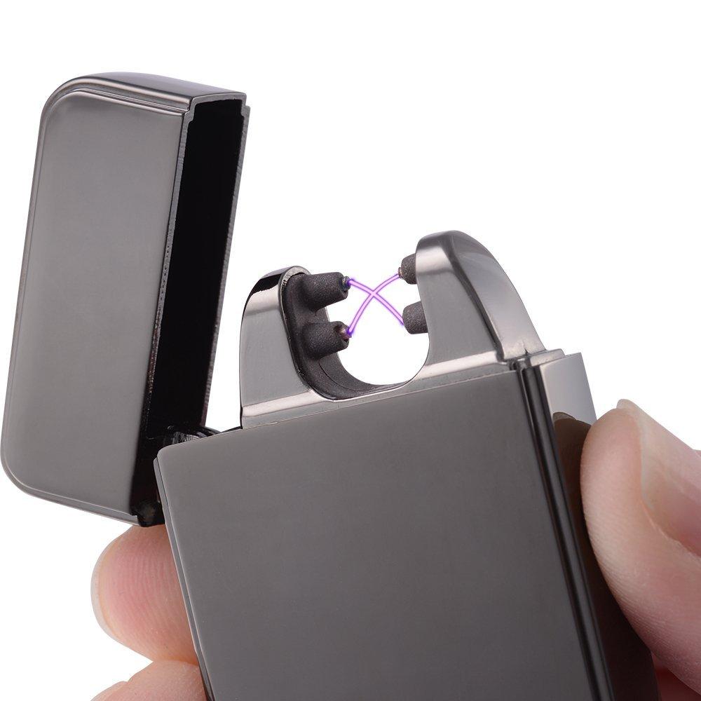 Plazmatic X USB Rechargeable Lighter – Titanium | Electric Arc Lighter